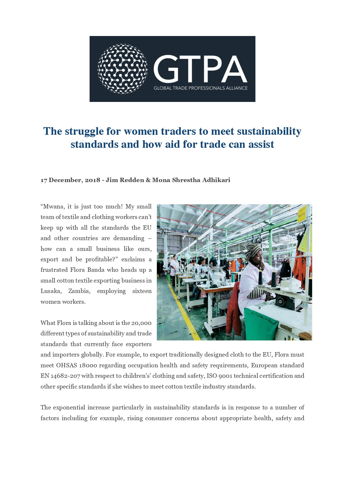The Struggle for Women Traders